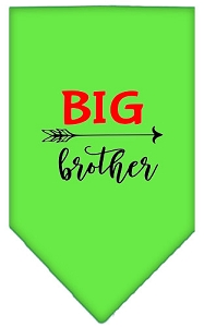 Big Brother Screen Print Bandana Lime Green Small